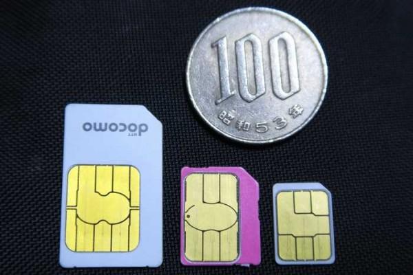 SIMカード サイズ比較