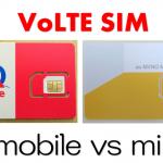 VoLTE対応SIMはUQモバイル・mineoどっちで契約するのが良い?申し込むのならどっち?
