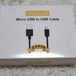 USBの充電用ケーブルが足りない人におすすめ!オーメイカー Omakerの「microUSBケーブル 5本セット」