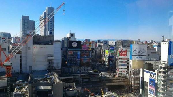 渋谷ヒカリエからの風景